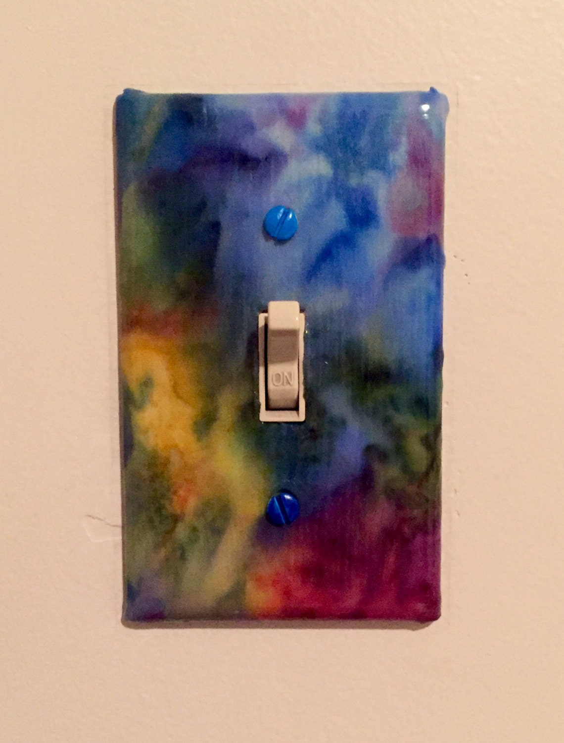 Rainbow decorative light switch plates for Unique light switch plates