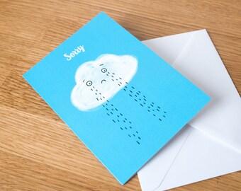 Sad cloud, sorry greeting card