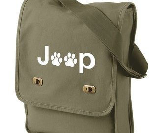 Jeep Paws Canvas Messenger Bag