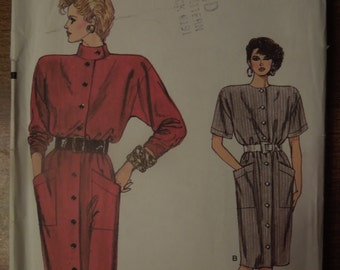 Vogue 9645, sizes 8-12, dress, UNCUT sewing pattern, craft supplies, misses, womens, blouson dress