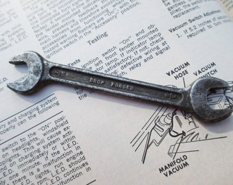 Vintage Drop Forged Open End Wrench  INV 45