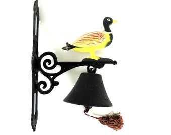 French Vintage Cast Iron Bell/Entrance Bell/Front Gate Bell