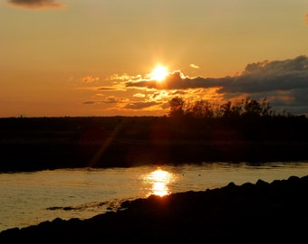 Sunset at Gull Cottage