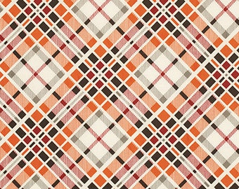 Florence Multi Plaid Carnelian by Denyse Schmidt for Free Spirit Fabrics, 1/2 yard, PWDS053.Carne