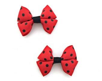 Red Hair Bows, Red Hairbows, Red Hair Clips, Red Bows, Black Hair Bows, Black Bows, Black Hairbows, Black Hair Clips, Red Black Hair Bow