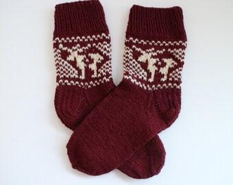 Handmade wool socks Hand knit socks