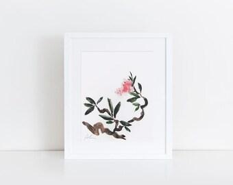 rose 2- watercolor art print