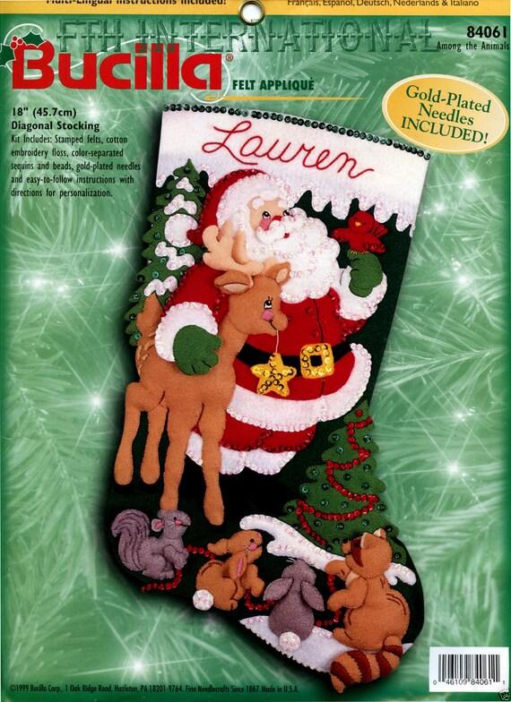 Santa Claus Felt Applique Stocking Kits Page Three