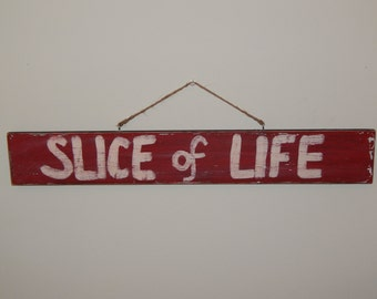 "Dexter-""Slice of Life"" Hand Painted Wooden Sign (Vintage/Worn Look) *Great gift for guys!*  - FREE SHIPPING"