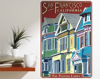 Painted Ladies San Francisco Wall Decal - #60867