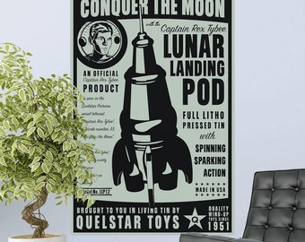 Lunar Landing Pod Toy Lunastrella Wall Decal - #64318