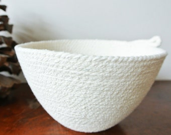 Cotton cord bowl - plain
