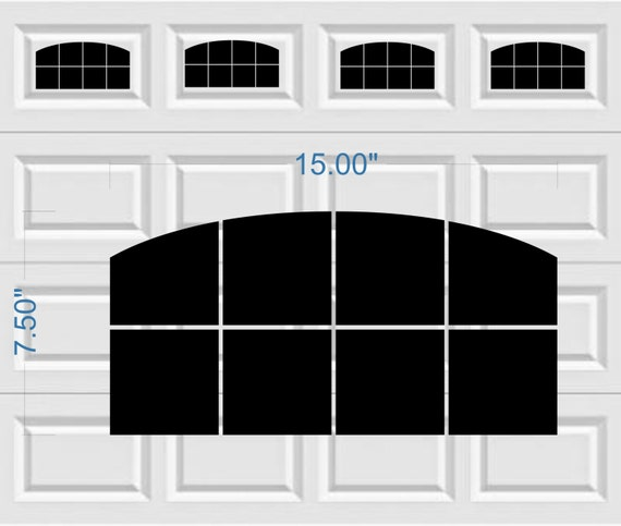 Garage Door Vinyl Window Decals: Carriage House Arched Window Style Faux Garage Door Vinyl
