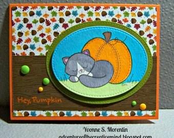 Hey, Pumpkin ...  Watercolor Greeting Card