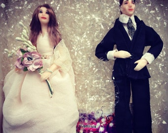 Wedding Dolls Bride and Groom Special day Cake Toppers