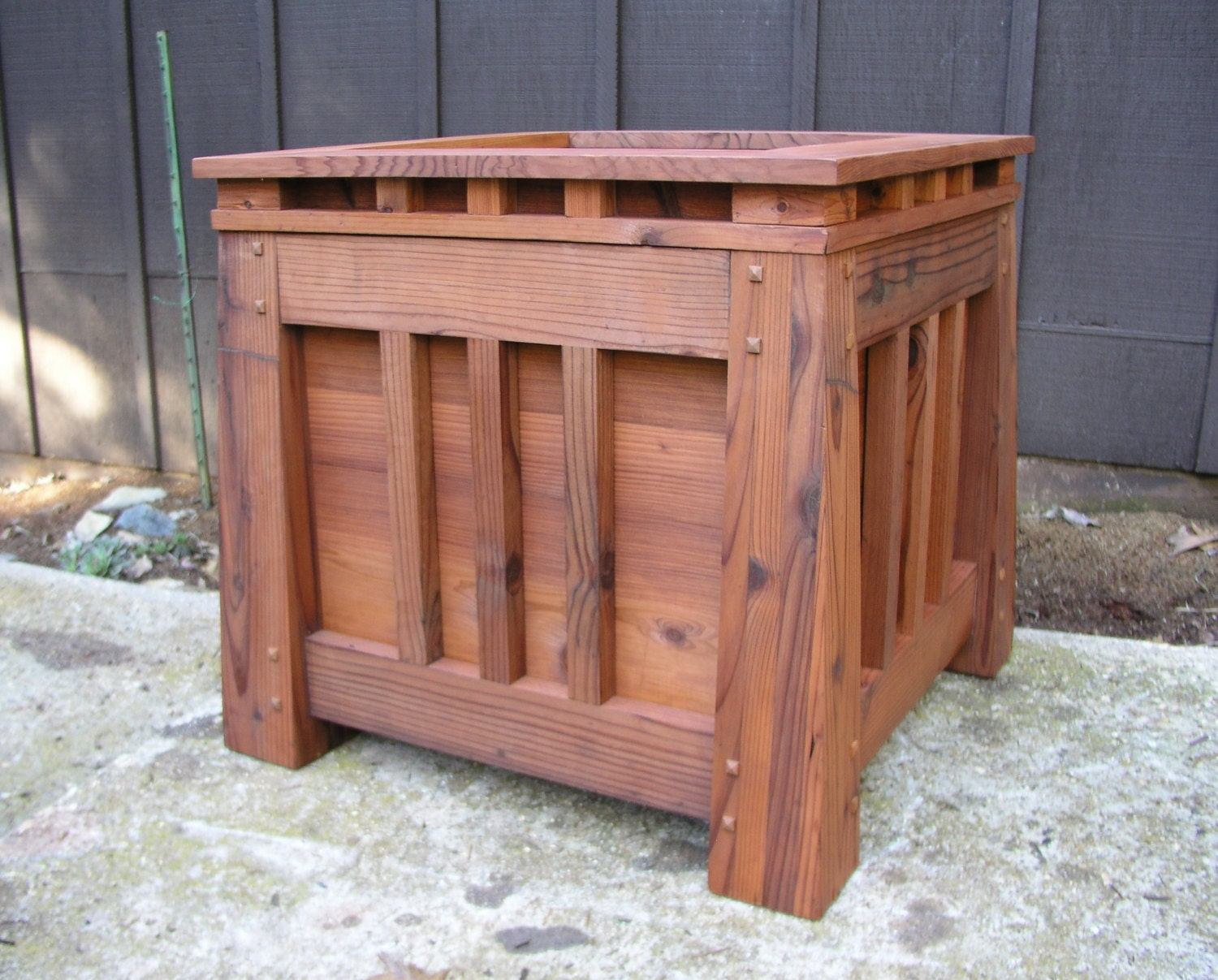 Mission style bathroom mirror - Mission Style Redwood Planter Craftsman Style Arts And Craft Style Outdoor Privacy Screen