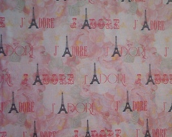 J'ADORE PARIS cotton fabric-Timeless Treasures-Eiffel Towers-by the yard