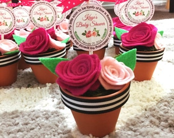 Felt Rose Planter Favor