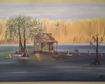 Crabbin on Da Bayou - Prints from Original Artwork