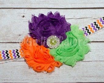 Halloween Headband, Baby Headband, Baby Headbands, baby girl headband, Halloween baby headband, Flower Headband, Halloween Bow