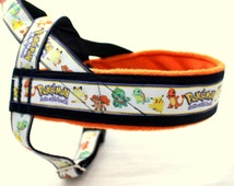 Norway harness with pattern Pokemon. For IG sighthounds, pugs, bulldogs, Italian greyhound, maltipoo, poodle, whippet