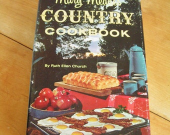 Vintage Retro 1964 Mary Meade's Country Cookbook with Dust Jacket Vintage Retro Recipes Mid Century Cook Book