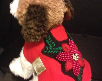 Christmas Mistle-Toe Dog Jacket