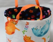 Crazy Cats Handmade Tiny Small Fabric Tote bags