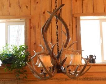 Custom ANTLER Chandelier,antler chandelier,antler light,REAL elk antlers,whitetail antlers,original antler chandeliers,original chandeliers,