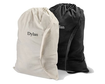 Personalized Laundry Bag - Personalized Drawstring Laundry Bag - Embroidered Laundry Bag - Cotton Laundry Bag - Graduation Gifts - GC1438
