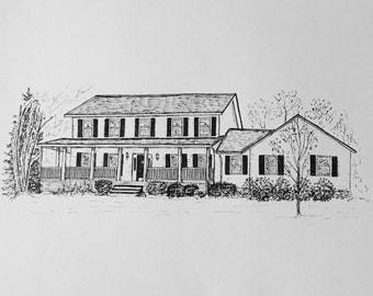 "House Drawing - 11""x14"""