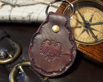 Leather Keychain - Germanic Eagle