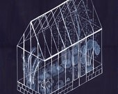 Green House II by Ana Frois (Illustration, Art Print)