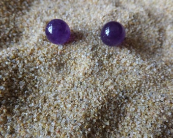 Beautiful Amethyst and Sterling Earrings