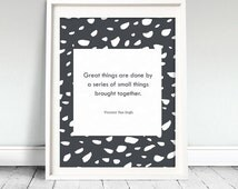 Vincent Van Gogh Quote Art Print, Printable Wall Art, Home Decor - Instant Download
