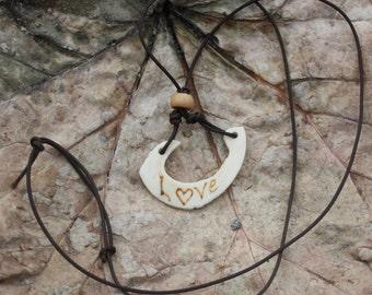 Bone necklace, Bone jewelry, Handmade necklace, Handmade bone necklace, Real bone necklace, DIY bone jewelry