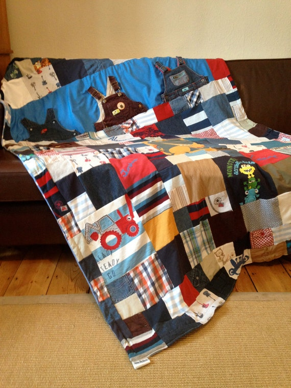 Keepsake Memory Quilt Made From Your Old Baby Clothes