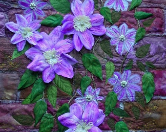 Clematis. Flowers. English Garden.