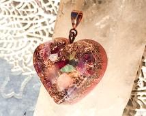 Orgonite Heart Chakra Orgone Pendant