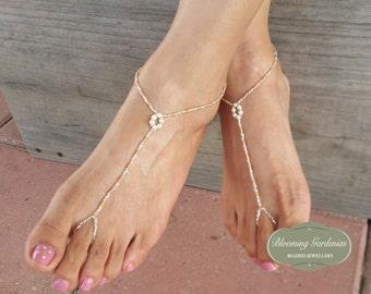 Barefoot Sandals, Bottomless Sandals, Gold Barefoot Sandals, Dainty Anklet, Wedding Barefoot Sandals, Beach Wedding Barefoot Sandals, Boho