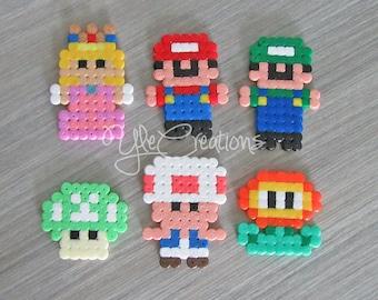 PIXEL ART Super Mario set hama beads perler party favor gifts