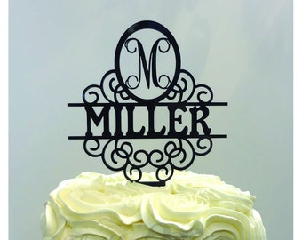 8 inch Single Letter with Name CAKE TOPPER - Wedding, Celebrate, Party, Cake Decoration, Baby