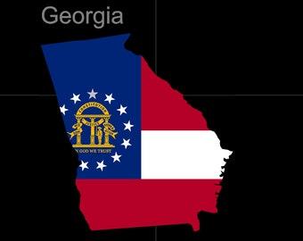 Georgia American State Flag Pride Decal Sticker