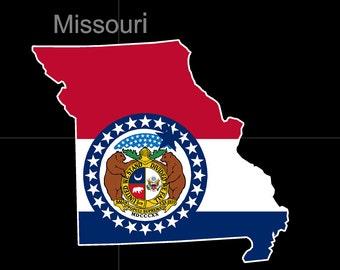 Missouri American State Flag Pride Decal Sticker