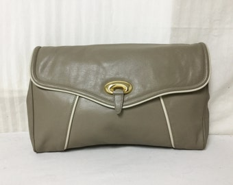 Courtenay, Large Leather Clutch, Soft leather Purse ,Taupe,bags,purses