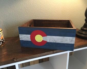 Colorado Flag Crate