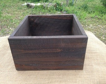 Rustic Flower Box, Wedding Centerpiece, Wood Box