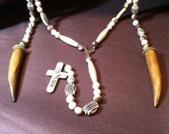 Tibetan Warrior Religous Necklace