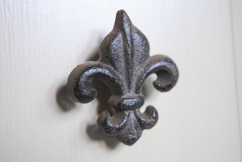 Cast Iron Fleur De Lis Knob Kitchen Cabinet Knob Bathroom