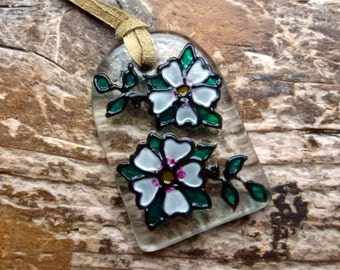 Glass pendant – Greetings from the Sleeping Beauty (small)